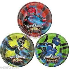 POWER RANGERS JUNGLE FURY SMALL PLATES (8) ~ Birthday Party Supplies Cake