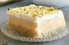 Greek Sweets, Vanilla Cake, Deserts, Food And Drink, Postres, Dessert, Plated Desserts, Desserts