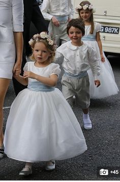 Poppy Delevingnes flower girl and pageboy outfits were created by Nicki… - Boodles