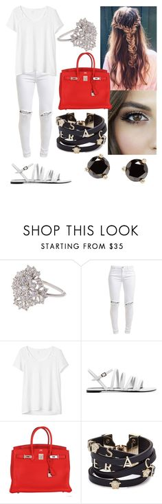 """""""#32"""" by mariangela06 ❤ liked on Polyvore featuring Nadri, FiveUnits, Gap, Robert Clergerie, Hermès, Versace and Kate Spade"""