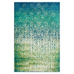 Loomed rug with a a distressed damask motif. Made in Egypt.   Product: RugConstruction Material: Polypropylene