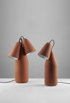 Terracotta lamps by Tomas Kral for PCM Design