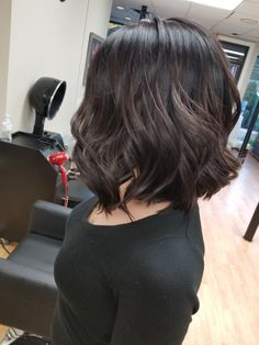 My new inverted bob haircut with dark brown colour done at cuts unlimited by Kaleigh. I love it!!