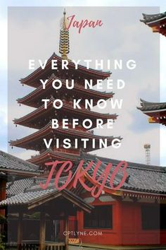 Everything you need to know before visiting Tokyo. Your ultimate travel guide to Tokyo with every tips you need to plan your trip to the wonderful capital of Japan, Tokyo. What food you need to try, what you need to do, and how to ride the Japanese Subway everything is inside this travel guide! What to Do In Tokyo   What to Eat In Tokyo   What to See In Tokyo   Tokyo Tips   Top things to do in Tokyo   JR PASS   First Time In Tokyo #Tokyo #Japan #Travel