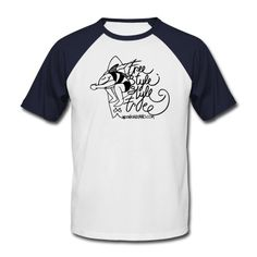 Men's Baseball T-Shirt Normal fit. Classic-cut baseball t-shirt for men, 100% cotton, Brand: Fruit of the Loom. Free Style Style Free - Andoni Galdeano