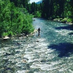 Pat fishing #bigwoodriver #sunvalley #flyfishing