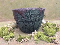 Hypertufa flower pot by THEFUNGARDEN on Etsy, $40.00