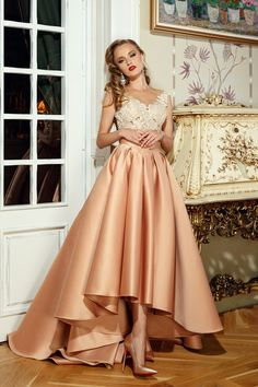 Fashionable Tulle Prom Dress,Satin Bateau Neckline A-Line Wedding Dresses With Lace Appliques,Prom Dresses,Long Evening Dress,Formal Gown High Low Evening Dresses, Elegant Prom Dresses, Evening Dresses For Weddings, A Line Prom Dresses, Beautiful Prom Dresses, Cheap Prom Dresses, Ball Dresses, Bridal Dresses, Party Dresses