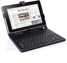 TASTIERA PELLE USB NAVIGATORE GPS TABLET 10  FLYTOUCH SAMSUNG APPLE ACER