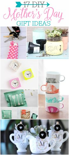 17 DIY Mother's Day gift ideas that won't end up in the trash! Handmade Mothers Day gifts. DIY Mothers Day gift ideas. Lots of handmade mothers day ideas!