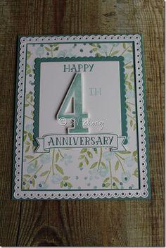 4th Anniversary card