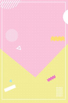 poster,contrast color,discount,simple,line,irregular shape,geometric,wave point,pink,yellow background Kids Background, Poster Background Design, Geometric Background, Yellow Background, Powerpoint Background Templates, Posters Conception Graphique, Photo Collage Template, Blue Poster, Donia