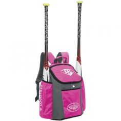 Louisville Slugger Series 3 Bat Backpack - Pink