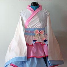 Sylveon Gijinka Cosplay Kimono Dress Wa Lolita Skirt Accessory | Darling Army