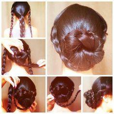 Easy hair style for long or medium length hair.