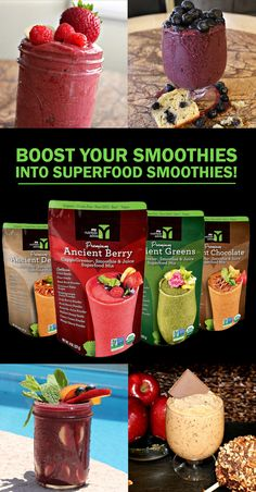 Making smoothies?  Now you can easily boost them into superfood smoothies.  Just add 1 Tbsp of superfood mix to your smoothie to get 10+ superfoods added to your smoothie.  There are 4 different mixes comprised of 10-11 different superfoods in each mix.    Checkout a bunch of our great superfood smoothie recipes as well: http://mynutritionadvisor.com/recipes.html  #mnasmoothie