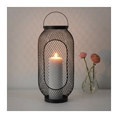 IKEA - TOPPIG, Lantern for block candle, black, The warm light from the candle shines decoratively through the pattern on the lantern. Use only 1 block candle with a max. height of 25 cm and a max. Diy Old Books, Old Book Crafts, Simple Birthday Decorations, Black Lantern, Wine Gift Baskets, Basket Gift, Black Candles, Lanterns Decor, Hanging Candle Lanterns
