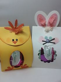 Easter Chick and Bunny   Here is a cute Easter treat that I came up with, I saw one on Pinterest that gave me the inspiration. For the Ch...
