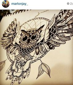 dream catcher owl tats dream catchers, catcher and owl Kunst Tattoos, Neue Tattoos, Body Art Tattoos, Tattoo Drawings, Sleeve Tattoos, Tribal Tattoos, Dream Catcher Drawing, Owl Dream Catcher, Dream Catcher Tattoo Design