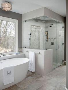 Shower remodel, bathroom renovations, house renovations, home remodeling, d Master Bath Remodel, Diy Bathroom Remodel, Bathroom Renovations, Bathroom Interior, Modern Bathroom, Small Bathroom, Bathroom Ideas, Large Bathrooms, Restroom Remodel