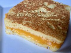 This is what was for lunch today! A delicious grilled cheese with the easiest keto bread ever! So simple and quick to make!