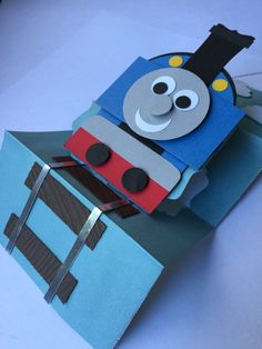 3D Pop up birthday-Thomas the train,birthday card, train cards, stampin up…