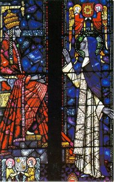 Saint Catherine of Siena and Pope Gregory XI - stained glass window in Saint Dominic's Church, Camberwell, Australia