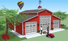 Bradley Mighty Steel RV Garage for sale, RV Shelter pricing Rv Garage Plans, Boat Garage, Carport Plans, Shed Floor Plans, Barn Plans, Garage House, Garage Ideas, House Plans, Garage Doors