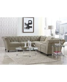Alec Leather Sofa Only At Macys