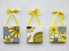 yellow and gray paintings