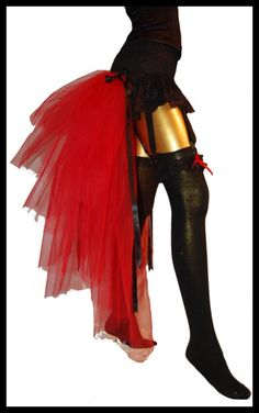 Exotic Carnival Bustle Skirt Festival Costume Burlesque Cabaret Showgirl Tulle REDLY NIGHTSHADE Gothic Victorian Couture