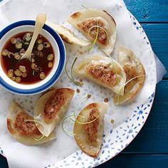 Pork and Shiitake Pot Stickers   MyRecipes.com
