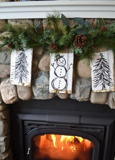 Upcycle wood shingles into Christmas garland >> http://www.diynetwork.com/how-to/make-and-decorate/crafts/2015-pictures/rustic-christmas-decorations-made-inexpensively-from-upcycled-it?soc=pinterest