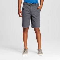 Men's Belted Flat Front S