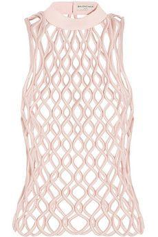 Balenciaga Latticed satin top | NET-A-PORTER