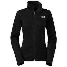 The North Face Women's Krestwood Full Zip Sweater ($99) ❤ liked on Polyvore featuring tops, sweaters, tnf black, zip front top, black sweater, zip top, full zip sweaters and zip front sweater