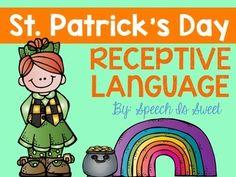 St. Patrick's Day receptive language activities