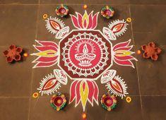 Kolam Rangoli, Simple Rangoli, Rangoli Designs, Room, Crafts, Rooms, Crafting, Diy Crafts, Craft