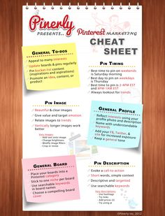 Pinterest Marketing Cheatsheet