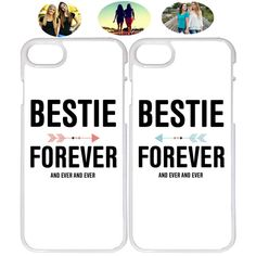 Details about Bestie Forever And Ever Best Friend Phone Case Cover For iPhone X XR 7 8 - Bff - Phone Cases Bff Iphone Cases, Bff Cases, Funny Phone Cases, Hard Phone Cases, Diy Phone Case, Iphone 8, Lg Phone, Best Friend Cases, Friends Phone Case