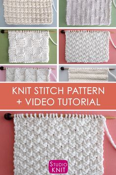 34f20ccedd How to Knit the Double Moss Knit Stitch Pattern