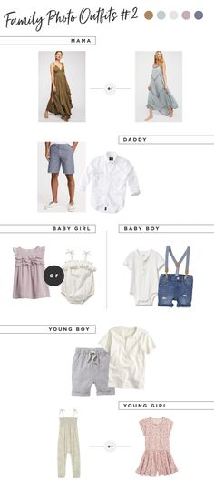 Family Photo Outfit Ideas for Summer - Lynzy & Co. What to wear for Family Photos Inspiration // Family Photo Outfit Ideas for Summer Newborn Family Pictures, Family Pictures What To Wear, Summer Family Pictures, Family Picture Outfits, Matching Family Outfits, Mom Outfits, Summer Outfits, Newborn Pics, Family Pics