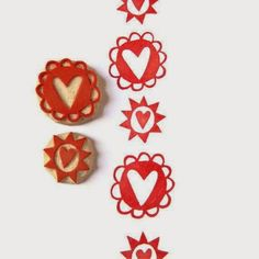 Handmade Hearts Pattern Stamp Set Hand Carved Stamps by creatiate cooking hand carved rubber stamps by talktothesun chalkboard skull in sw. Stamp Printing, Screen Printing, Silkscreen, Eraser Stamp, Stamp Carving, Handmade Stamps, Yarn Thread, Tampons, Heart Patterns