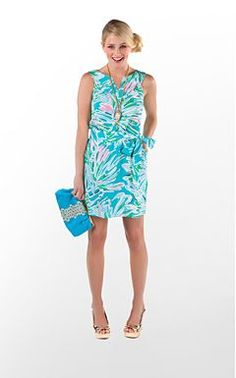 Lilly Guiliana Dress in Snorkel Blue Greens with Envy!