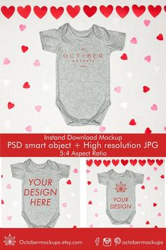 Valentine mockup Valentines Day Bodysuit Mockup Love image 1 Trendy Baby Clothes, Personalized Door Mats, Valentines For Kids, Fashion Photo, Mockup, Fabric Design, Your Design, Shirt Designs, October