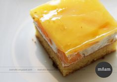 Ovocný broskyňový koláč so želatinou - NajRecept.sk