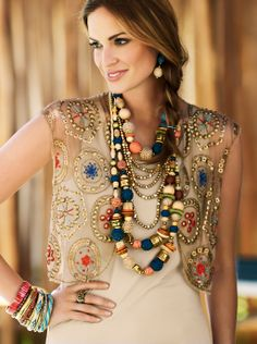 Utterly unique & exquisitely embellished #chicos