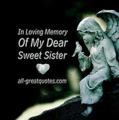 In Loving Memory Sayings | In Loving Memory Cards Sister
