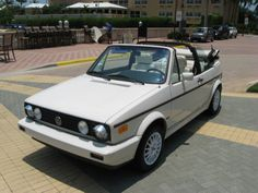 4th Car: 1986 Volkswagen Cabriolet, white on white, CONVERTIBLE!!!! First new car