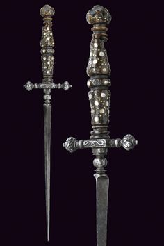 A beautiful stiletto provenance: North Italy dating: 17th Century  I can see Constance carrying this...